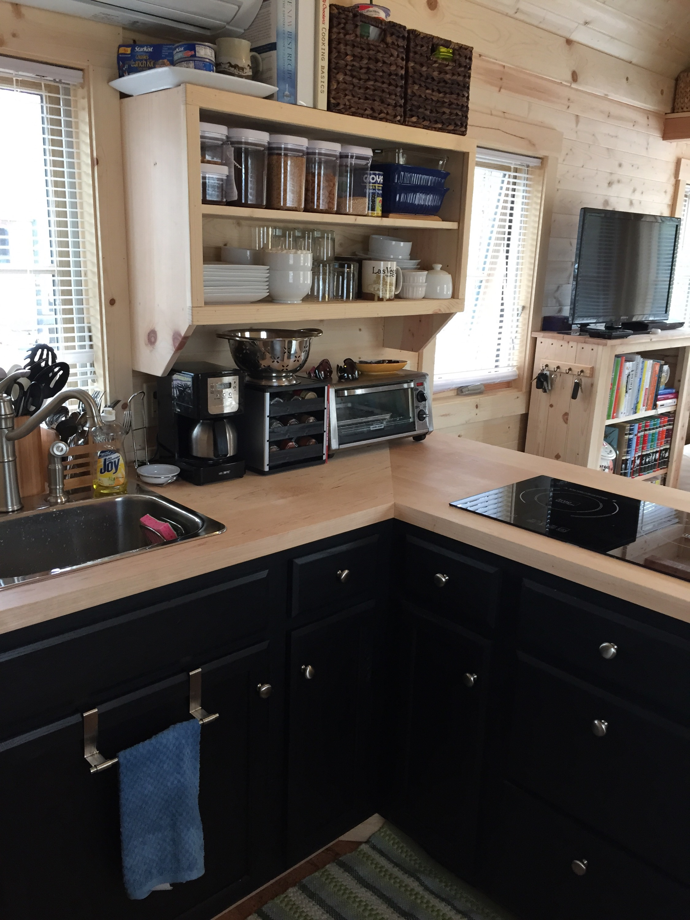 I Also Wanted It To Feel Roomy. . .no Galley Kitchens For This Kid! Here Is  The Kitchen I Ended Up With.